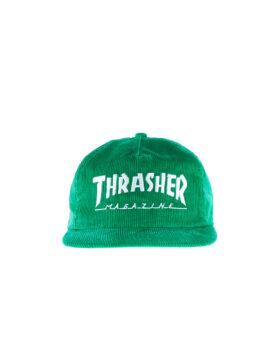 THRASHER MAGAZINE LOGO CORDUROY SNAPBACK (GREEN)