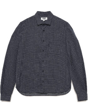 YOU MUST CREATE – CURTIS COTTON SASHIKO STITCH SHIRT NAVY