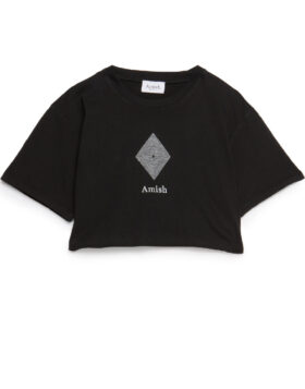 AMISH – T-SHIRT CROPPED JERSEY SW