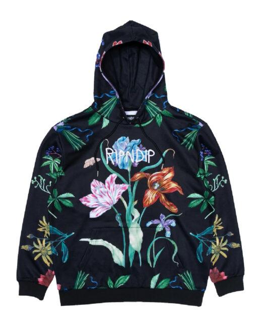 hoodie cappuccio ripndip black blue