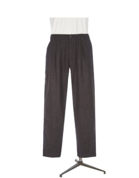 Universal Works – Pleated Track Pant In Brown