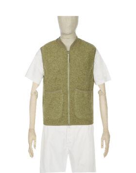 UNIVERSAL WORKS – Zip Waistcoat Wool Fleece